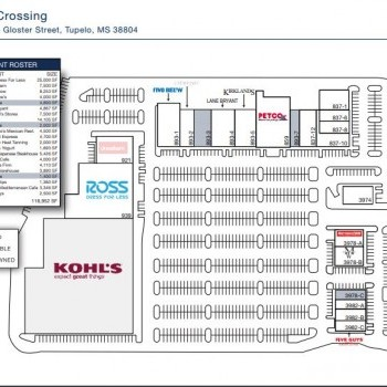 Plan of mall Kings Crossing