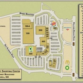 Plan of mall King's Market Shopping Center