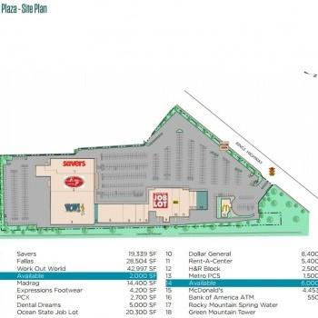 Plan of mall Kings Plaza