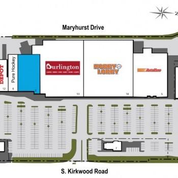 Plan of mall Kirkwood Crossing