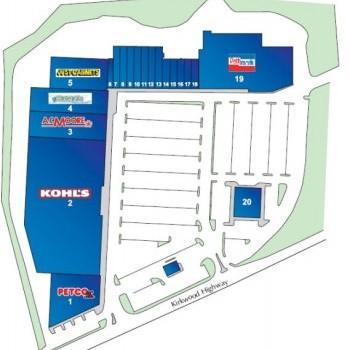Plan of mall Kirkwood Plaza