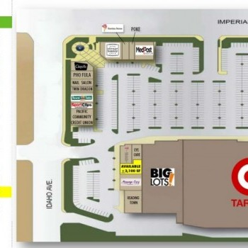 Plan of mall La Habra Imperial Promenade