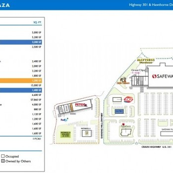 Plan of mall La Plata Plaza