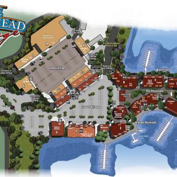 Plan of mall Lake Arrowhead Village