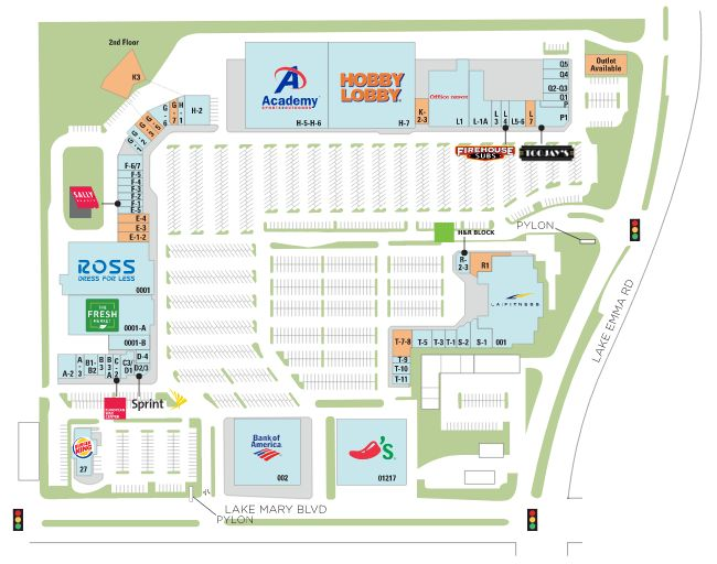 Map Of Lake Mary Florida.Lake Mary Centre Store List Hours Location Lake Mary Florida