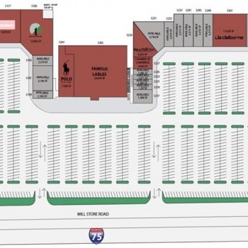 Plan of mall Lake Park Plaza