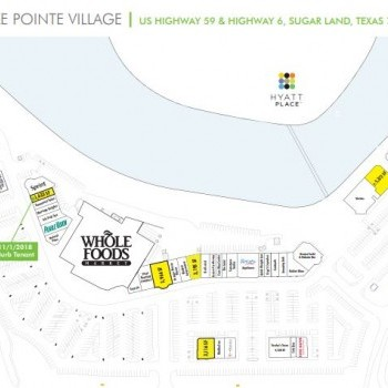 Plan of mall Lake Pointe Village
