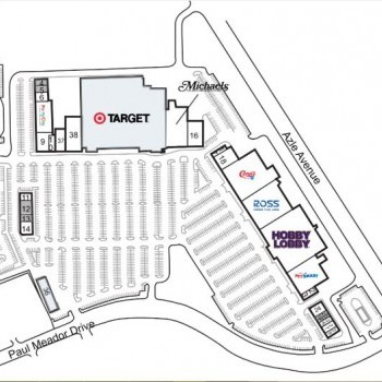 Plan of mall Lake Worth Towne Crossing