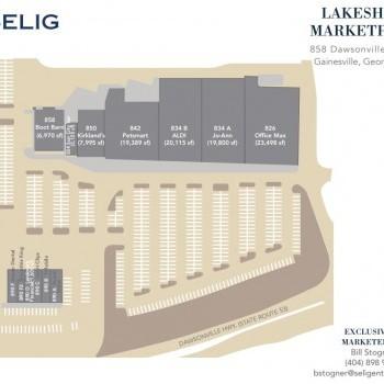 Plan of mall Lakeshore Marketplace