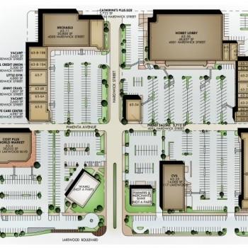 Plan of mall Lakewood Square
