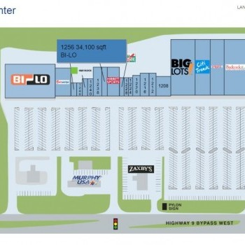 Plan of mall Lancer Center