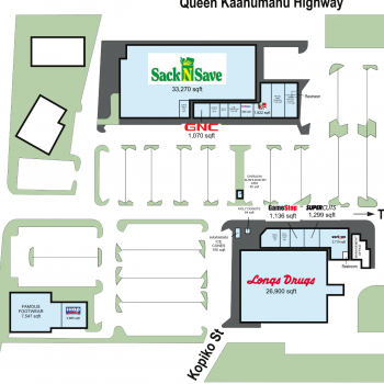 Plan of mall Lanihau Center