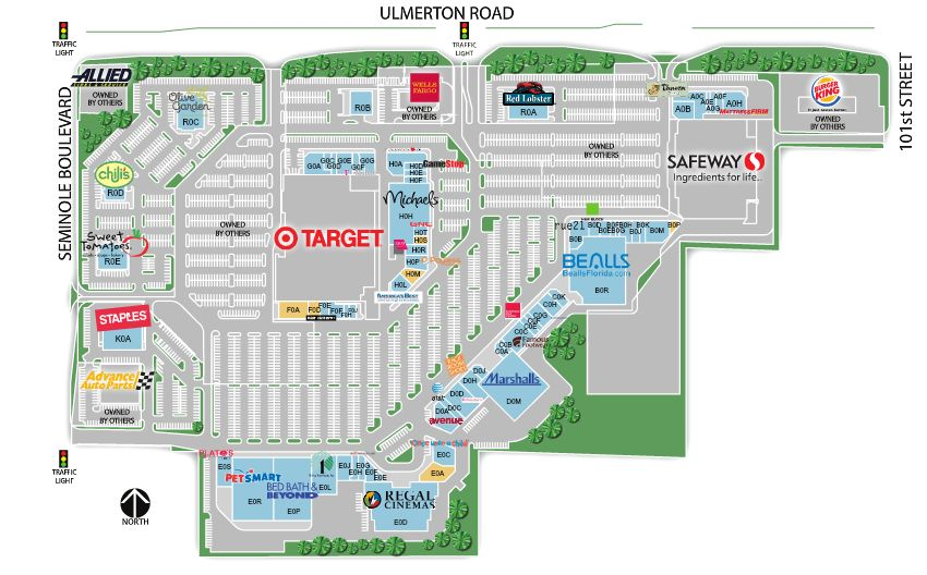 Store Directory And Map Of Largo Mall