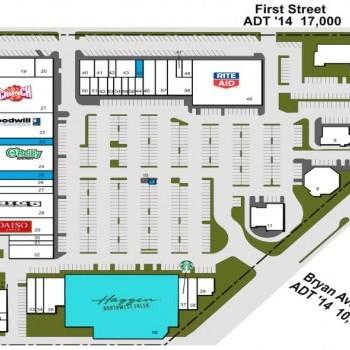 Plan of mall Larwin Square