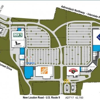 Plan of mall Latham Farms