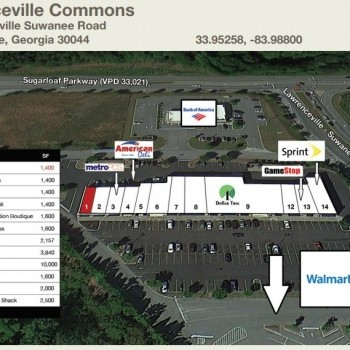 Plan of mall Lawrenceville Commons