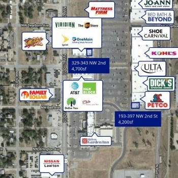 Plan of mall Lawton Town Center