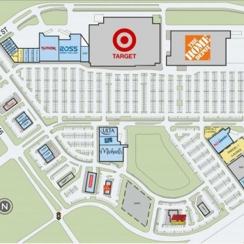 Plan of mall League City Towne Center