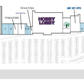 Plan of mall Legacy Crossing