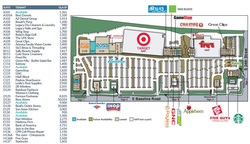 Famous Footwear In Legacy Village Location Plan