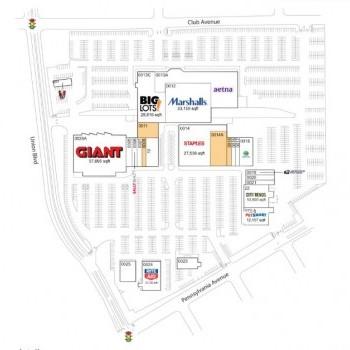 Plan of mall Lehigh Shopping Center