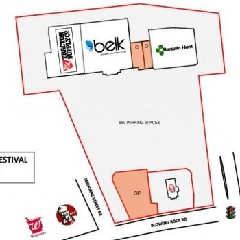 Plan of mall Lenoir Festival Shopping Center