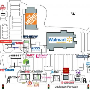 Plan of mall Levittown Town Center