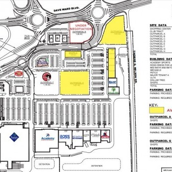 Plan of mall Lewis Crossing