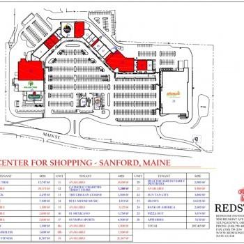 Plan of mall Lewiston Mall