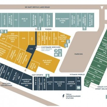 Plan of mall Lincoln City Outlets