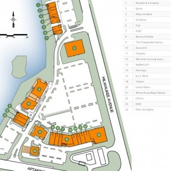 Plan of mall Lincolnshire Commons