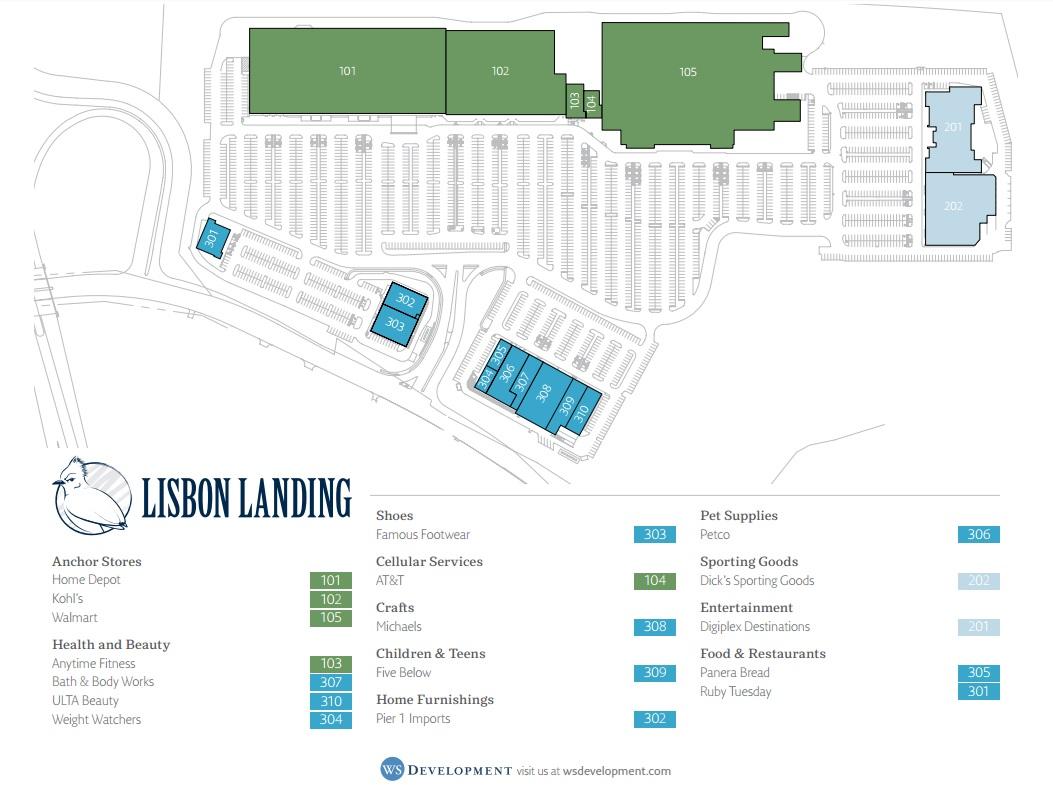 lisbon landing  store list hours (location lisbon connecticut  - store directory and map of lisbon landing