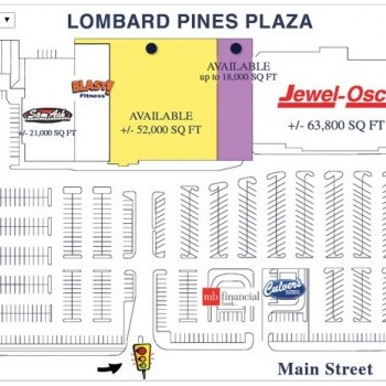 Plan of mall Lombard Pines Plaza