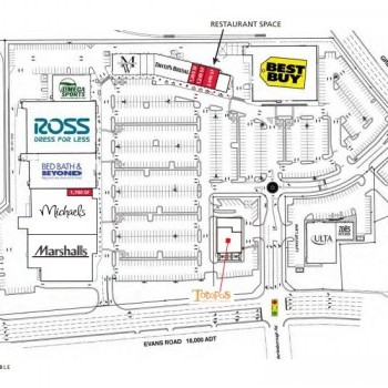 Plan of mall Lynncroft Shopping Center