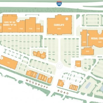 Plan of mall Magnolia Park Town Center