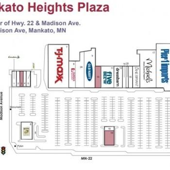 Plan of mall Mankato Heights Plaza