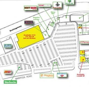 Plan of mall Mariposa Mall