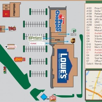 Plan of mall Market Place Shopping Center