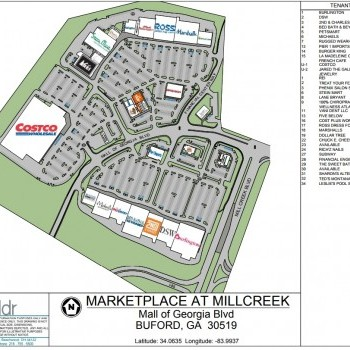 Plan of mall Marketplace at Millcreek
