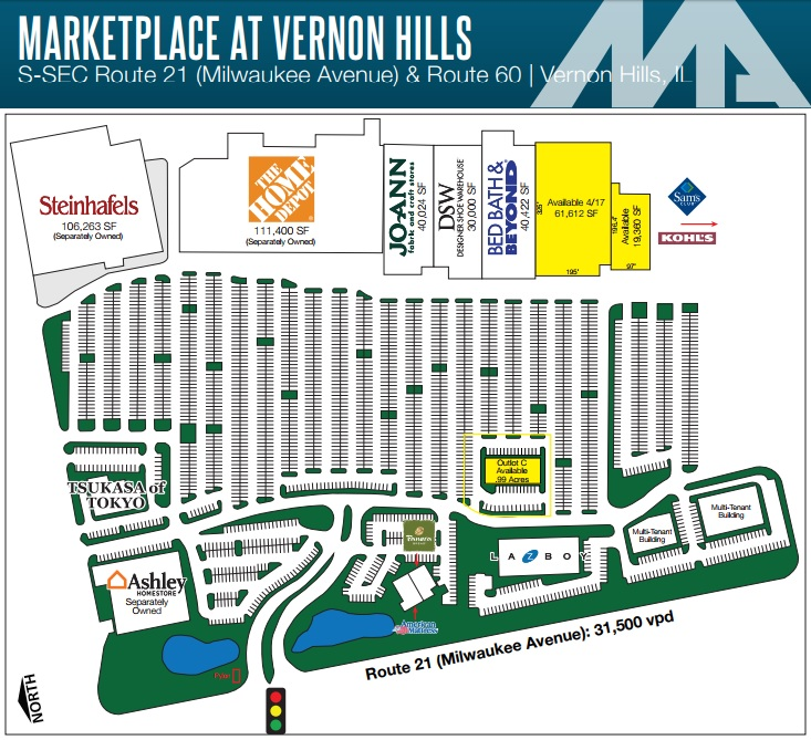 Vernon Hills Town Center: Store List, Hours, (location