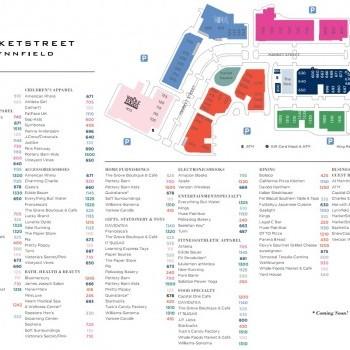 Plan of mall MarketStreet Lynnfield