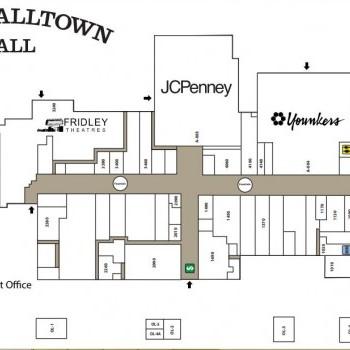 Plan of mall Marshalltown Mall