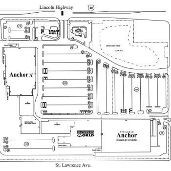Plan of mall Matteson Plaza