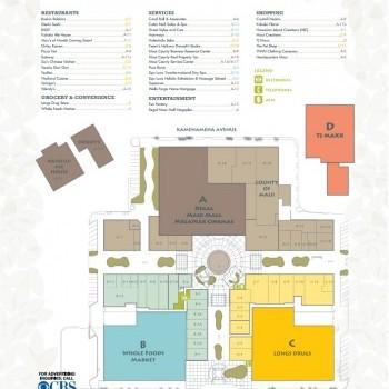 Plan of mall Maui Mall