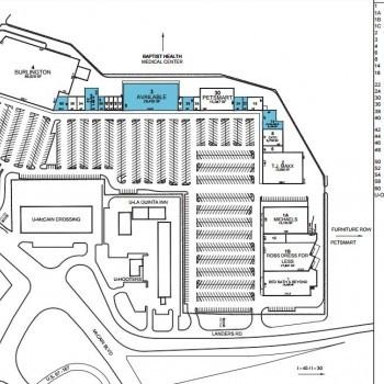 Plan of mall McCain Plaza