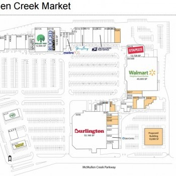 Plan of mall McMullen Creek Market