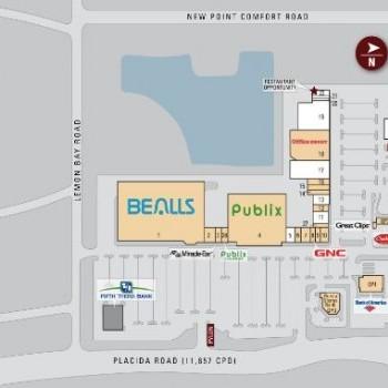 Plan of mall Merchants Crossing