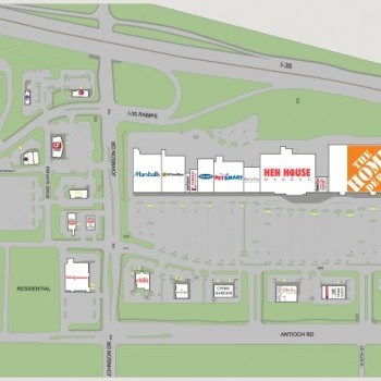 Plan of mall Merriam Town Center - Merriam Village