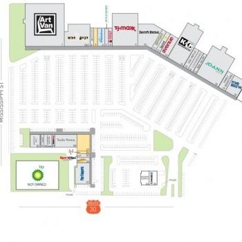 Plan of mall Merrillville Plaza