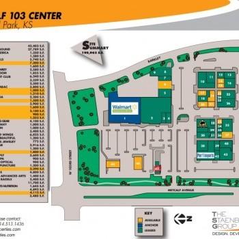 Plan of mall Metcalf 103 Center